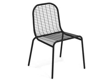 Stackable steel garden chair CENTINA | Garden chair