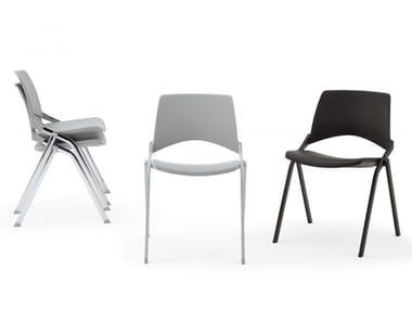 Cadeira empilhável de polipropileno KENDO | Cadeira