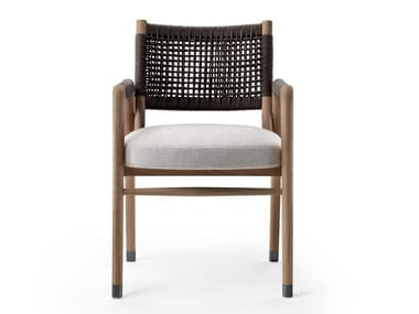 Solid wood chair with armrests ORTIGIA | Chair