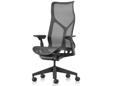Sedia ufficio ergonomica con schienale alto COSM | Sedia ufficio