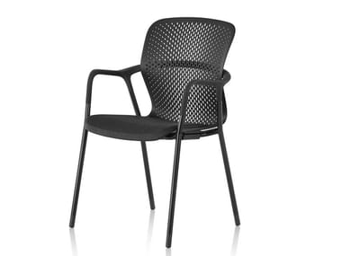 Chaise empilable avec accoudoirs KEYN | Chaise empilable