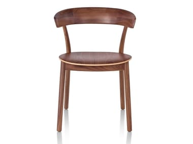 Wooden chair with metal or wooden base LEEWAY | Chair
