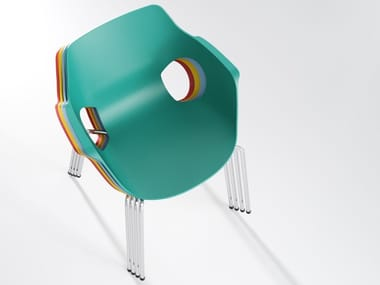 Stackable polypropylene chair MANTA | Chair