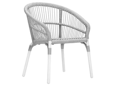 Polypropylene garden chair with armrests NEXUS | Chair