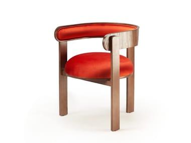 Sedia con struttura in faggio e imbottitura in tessuto MOULIN | Sedia