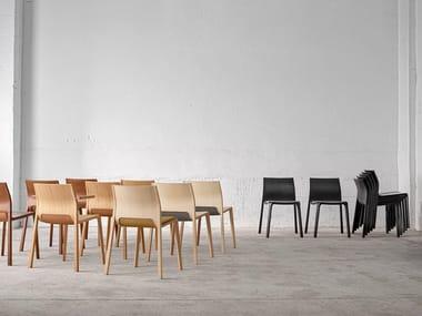 Stackable wooden chair SILU | Chair