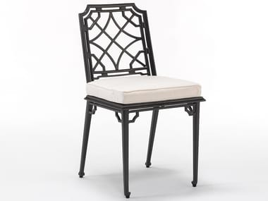 Aluminium garden chair with integrated cushion RISSINGTON | Chair