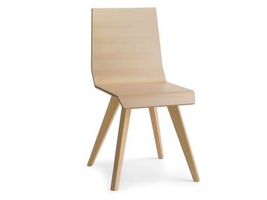 Wooden chair METRIA | Chair
