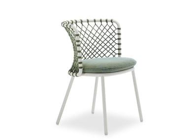 Sedia da giardino intrecciata con corda di poliestere CHARME   Sedia