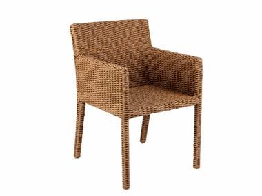 Sedia in fibra Nenuphar con braccioli ABONDO | Sedia