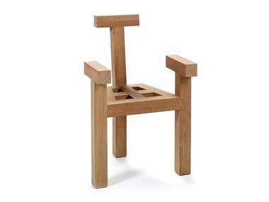 Sedia in teak con braccioli NARA | Sedia