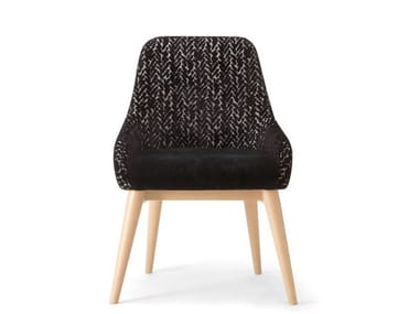 Upholstered fabric chair with integrated cushion JO | Chair
