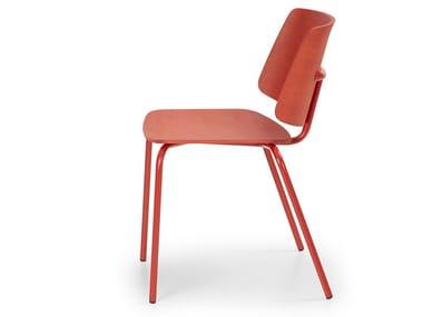 Sedia in alluminio e legno TAO | Sedia