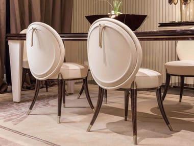 Medallion upholstered wooden chair NOIR | Chair