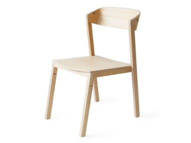 Stackable ash chair ATELIER | Wooden chair