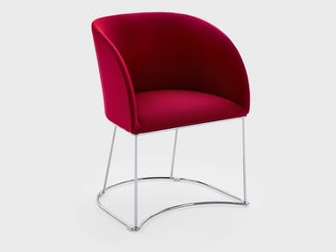 Sled base fabric reception chair MILLY | Chair