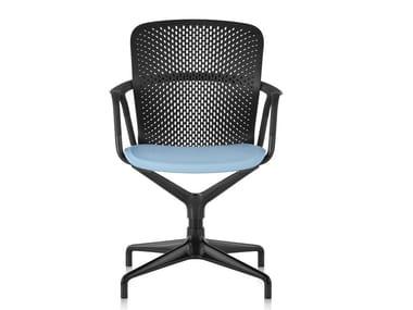 Chaise pivotante à 4 branches KEYN | Chaise à 4 branches