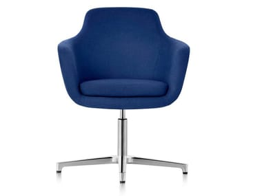 Cadeira giratória de 4 raios de tecido com braços SAIBA | Cadeira de 4 raios