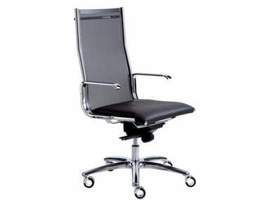 Height-adjustable executive chair with 5-spoke base with castors TAYLORD MESH | Executive chair