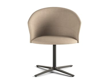 Upholstered chair with 4-spoke base COPA | Chair with 4-spoke base