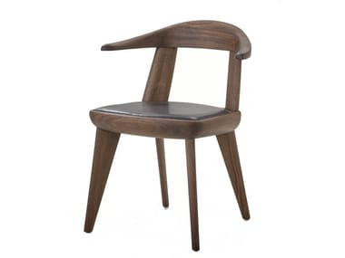 Solid wood chair with armrests BRUTUS | Chair with armrests