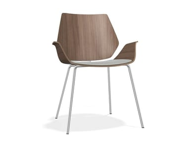 Upholstered wooden chair with armrests CENTURO III | Chair with armrests