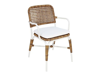 Synthetic fibre garden chair with armrests SIAK | Chair with armrests