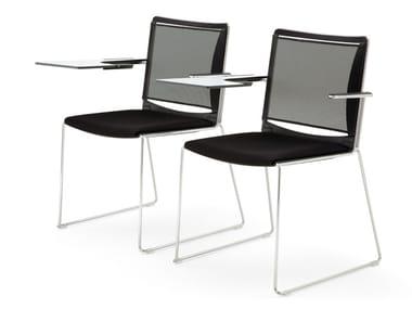 Cadeira de conferência com prancheta S'MESH SOFT | Cadeira de conferência