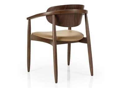 Cadeira de madeira de restaurante com braços JOANNA | Cadeira com braços