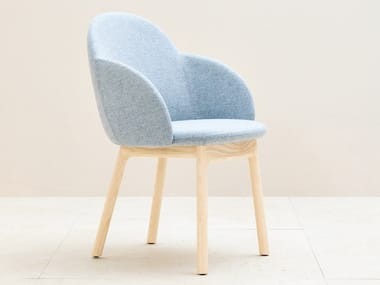 Upholstered chair with armrests IOLA | Chair with armrests