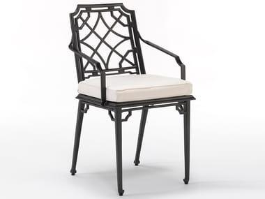 Aluminium garden chair with armrests RISSINGTON | Chair with armrests