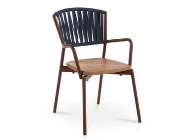 Garden chair with armrests PIPER | Garden chair