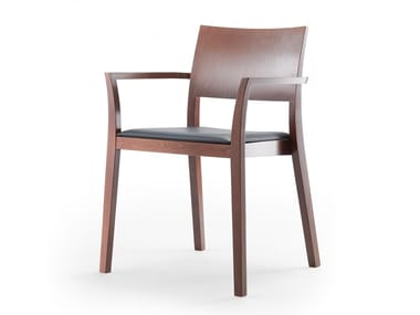 Solid wood chair with armrests BONNIE 380 | Chair with armrests