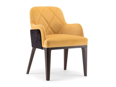 Upholstered fabric chair with armrests GILL | Chair with armrests