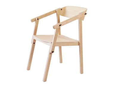 Ash chair with armrests ATELIER | Ash chair