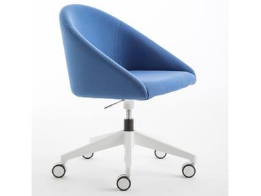 Sedia in tessuto con braccioli con ruote BLOOM M | Sedia con ruote