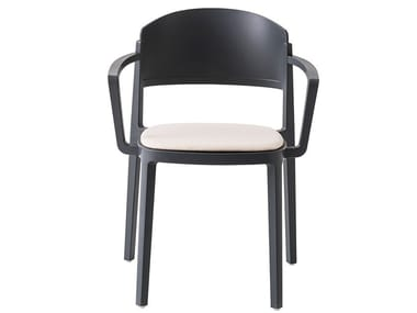 Technopolymer chair with integrated cushion ABUELA B