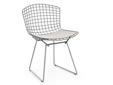 Steel chair with integrated cushion BERTOIA SIDE CHAIR | Chair with integrated cushion