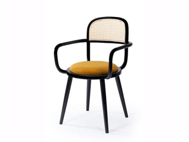 Wooden chair with integrated cushion LUC | Chair with integrated cushion