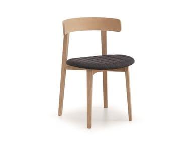 Fabric chair with integrated cushion MAYA | Chair with integrated cushion