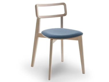Stackable chair with integrated cushion ARIANNA | Chair with integrated cushion