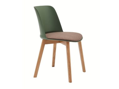 Stackable polypropylene chair with integrated cushion TO-BE | Chair with integrated cushion