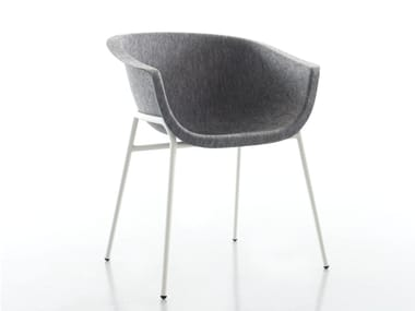 Upholstered fabric chair with armrests CHAIRMAN METAL   Chair
