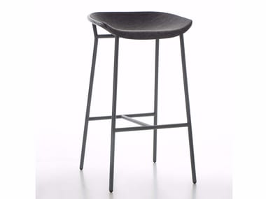 High fabric stool with footrest CHAIRMAN METAL | Stool
