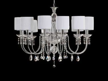 Indirect light chandelier with crystals SOFFIO | Chandelier