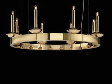 Lampadario a luce indiretta in ottone SHARON | Lampadario