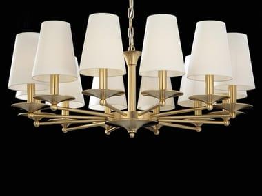 LED brass chandelier AMANDA   Chandelier