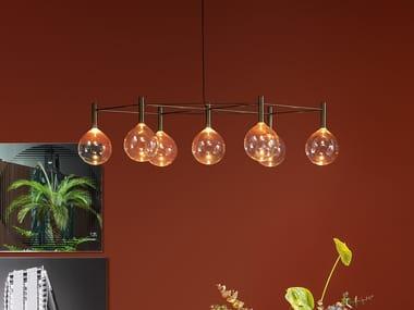 Borosilicate glass chandelier SOFÌ | Chandelier