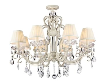 Metal chandelier with crystals TRIUMPH | Chandelier