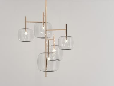 LED Pyrex® chandelier HYPERION | Chandelier